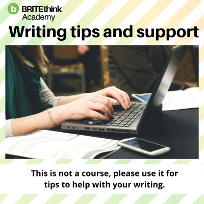 Writing Tips and Support